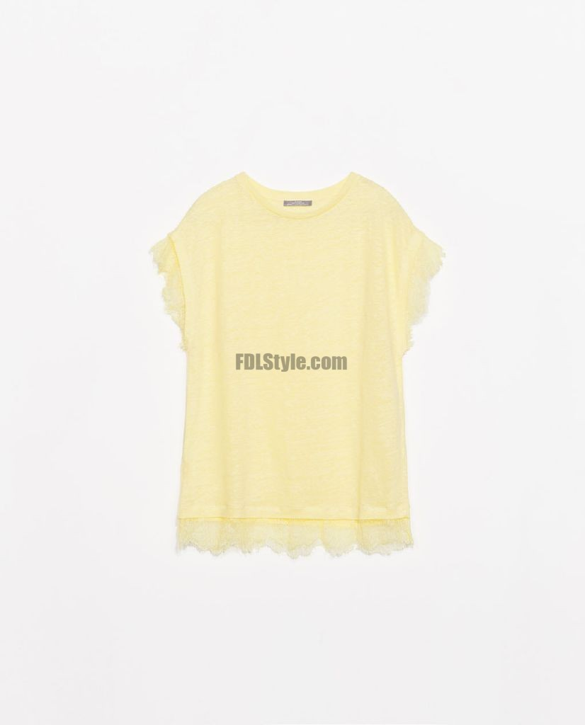 Shabby Chic T-shirt Romantic Lace