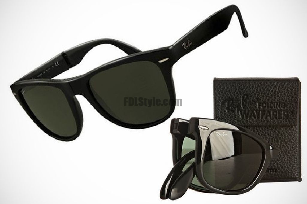 ray ban wayfarer pliable wayfarer sunglasses black
